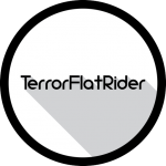 TerrorFlatRider-Minimalistic-Logo-Long-Shadow-Effect-Black-Circle-Bezel